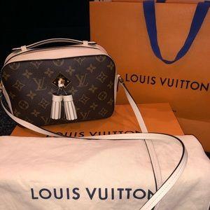 Louis Vuitton Saintonge Creme/Monogram Crossbody
